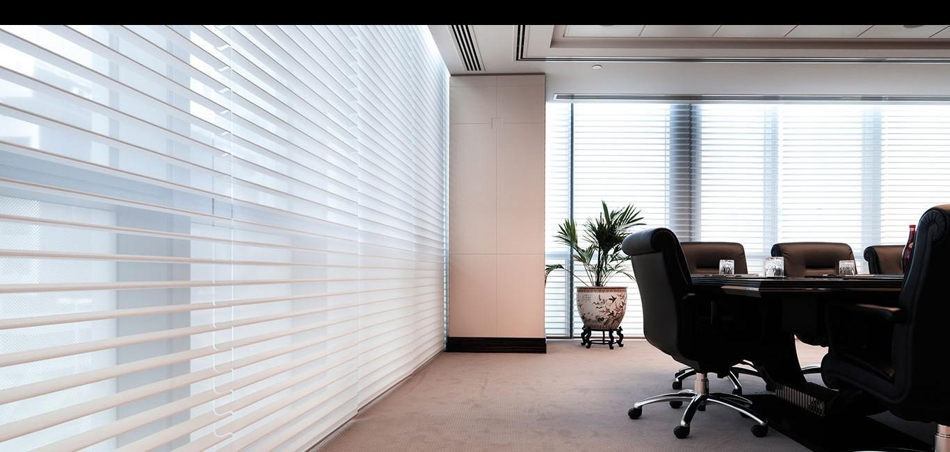 Cortina Silhouette® - Hunter Douglas -  Escritório (sala de reunião)